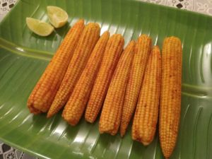 Pan fried baby corn