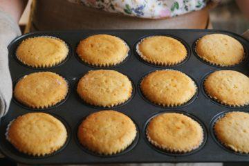 vanilla choco chip cupcake
